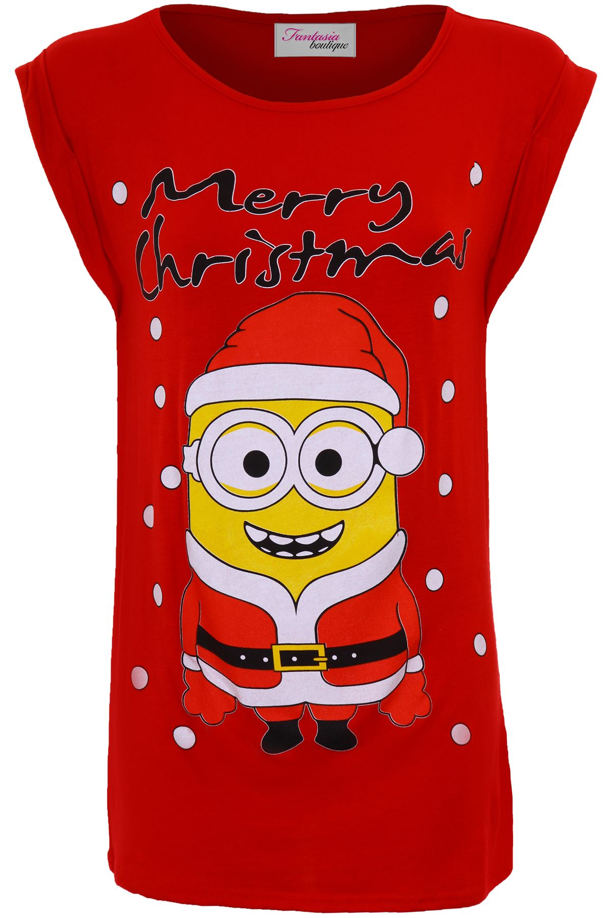 Ladies Olaf Frozen Minion Merry Christmas XMAS Festive Women's Top ...
