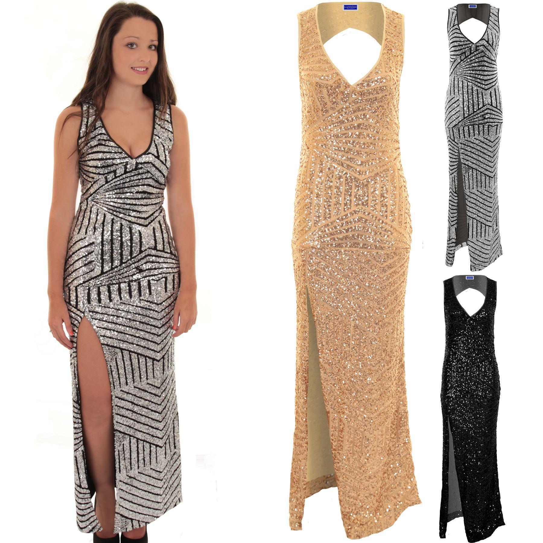 Sexy maxi dress with split