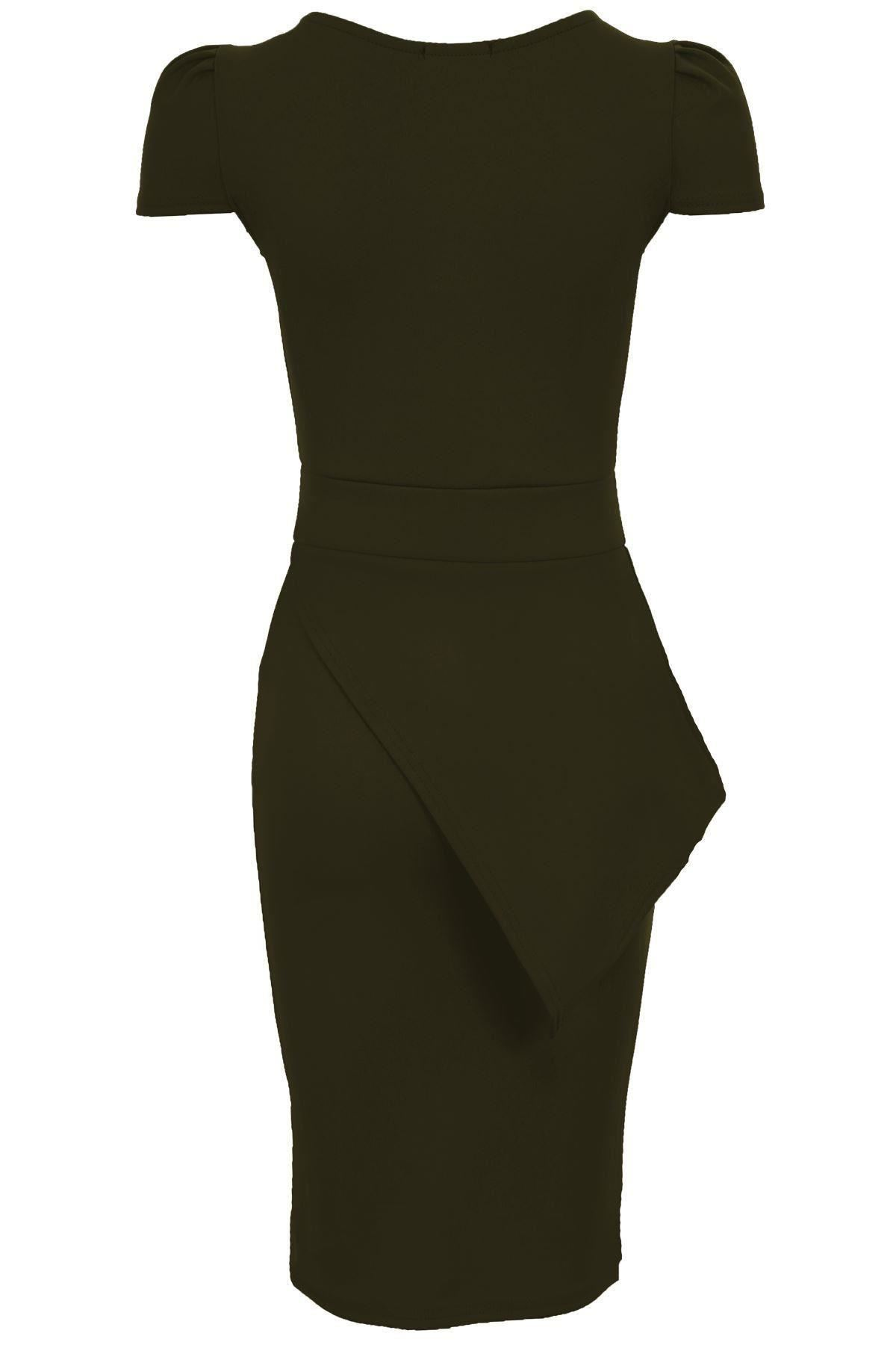 Ladies Asymmetric Neon Pencil Bodycon Knee Length Midi Womens Party Jolie Clothing Georgia Mini Dress Tube Ebay