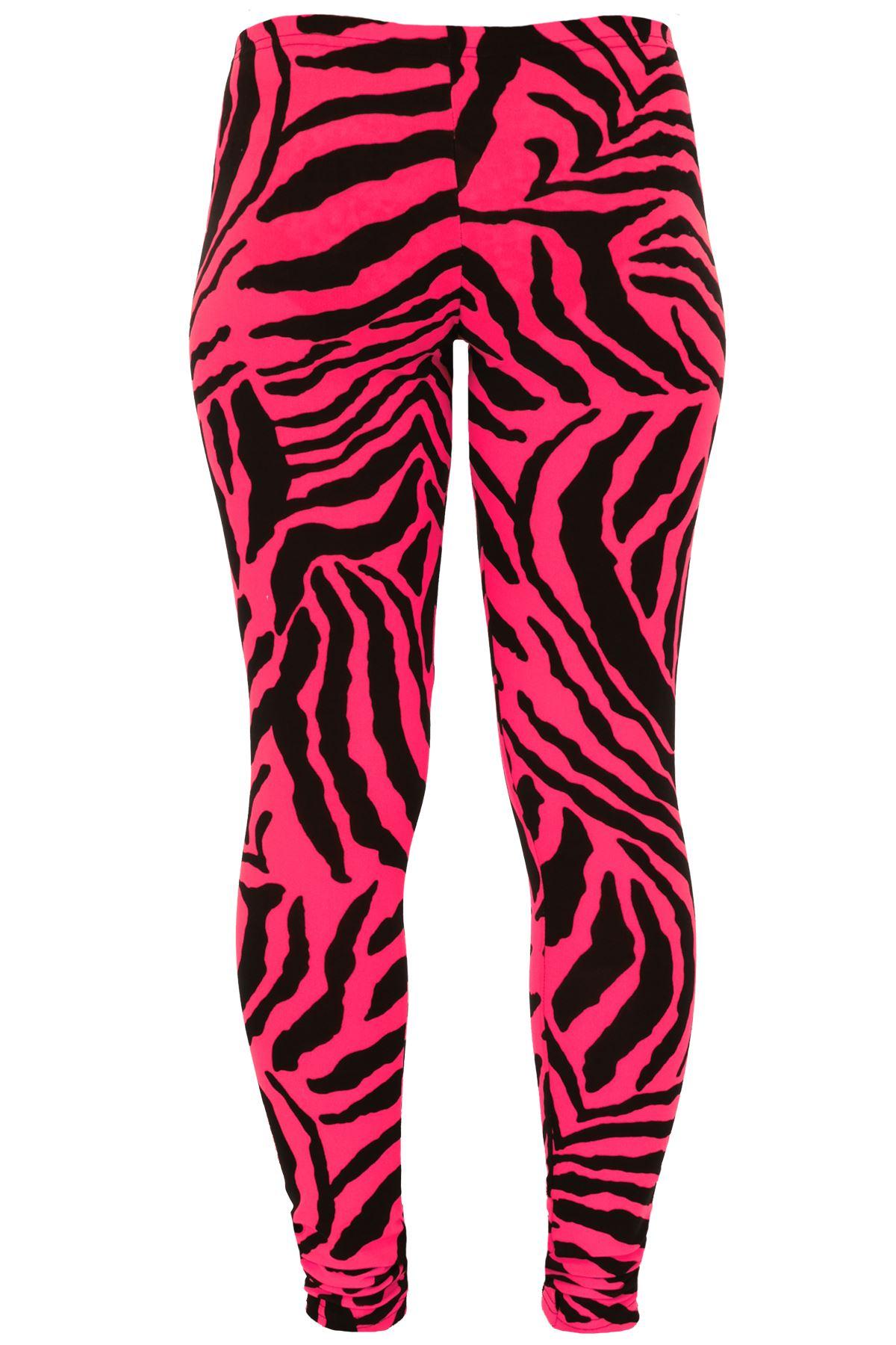 add53499a8383 Girls Leopard Animal Neon Bright Florescent Zebra Print Punk Stretch ...