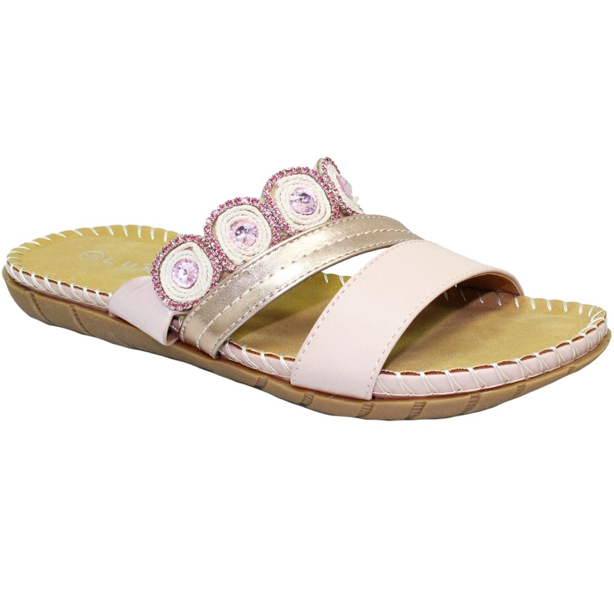 TAMARIS TURQUOISE METALLIC EMBELLISHED LEATHER SANDALS CUSHIONED INSOLE BUCKLE