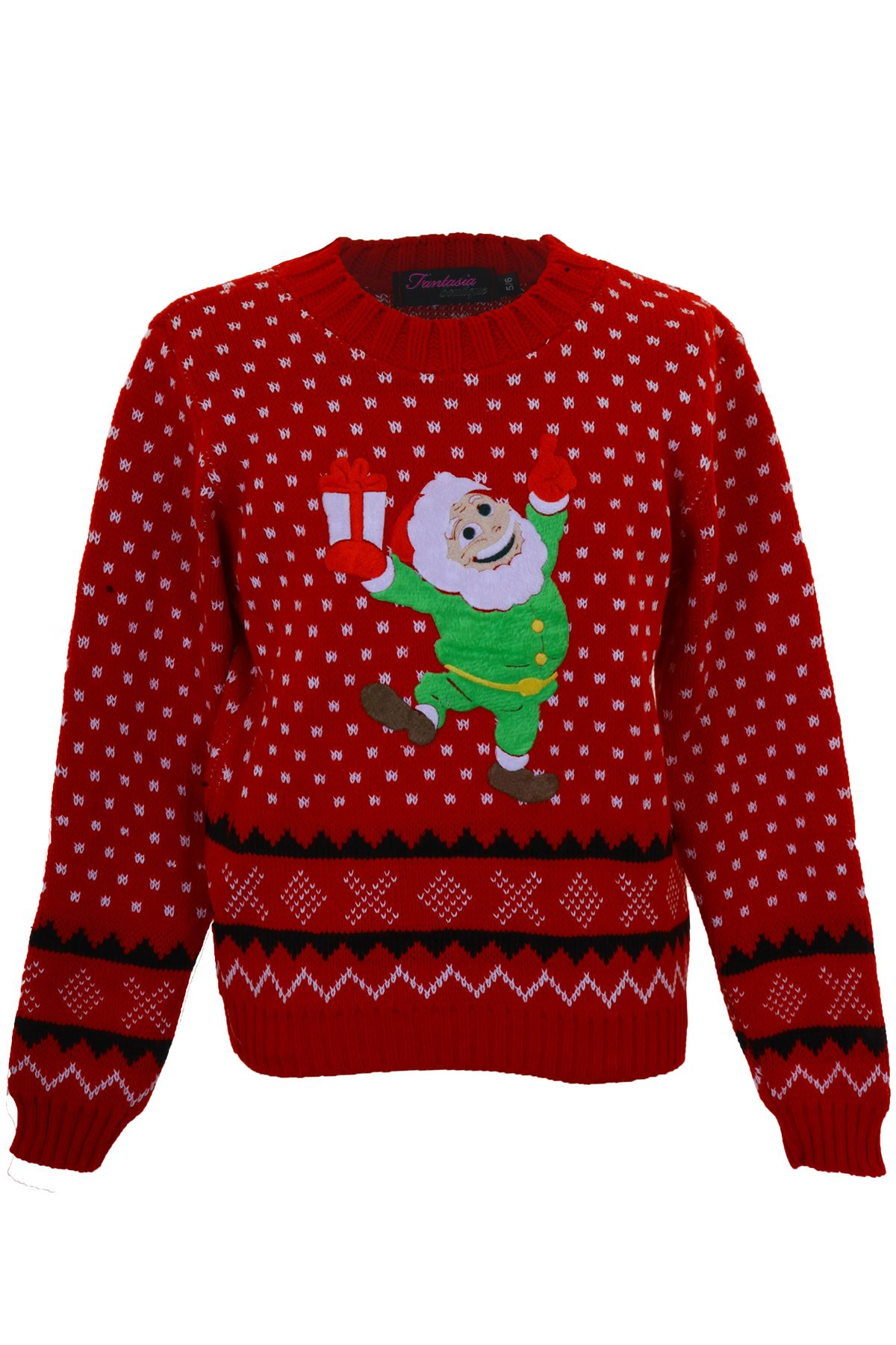 Knitting Pattern For Olaf Jumper : Girls Olaf Minion Reindeer Rudolf Santa Childrens Knitted ...