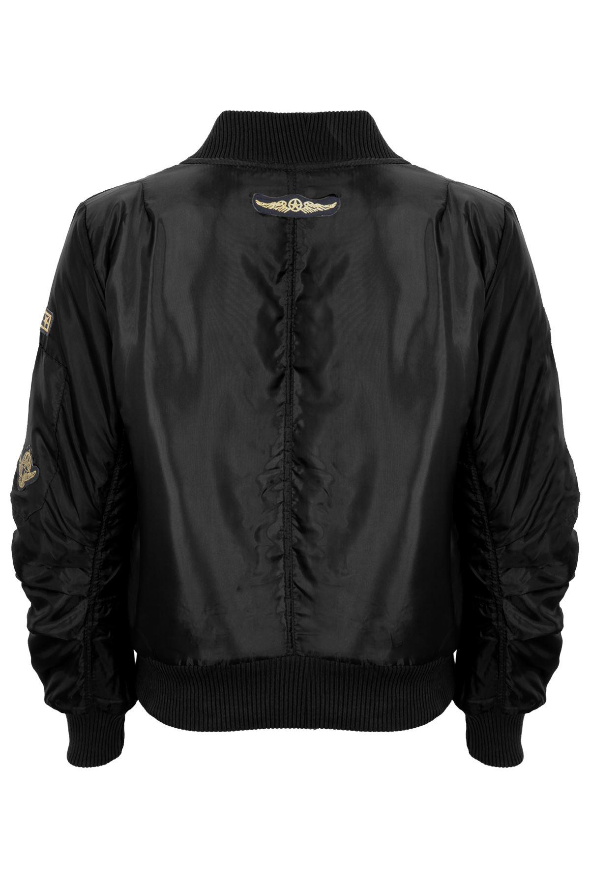 Children/'s Ma1 Badge Padded Lined Satin Biker Stylish Vintage Bomber Jacket