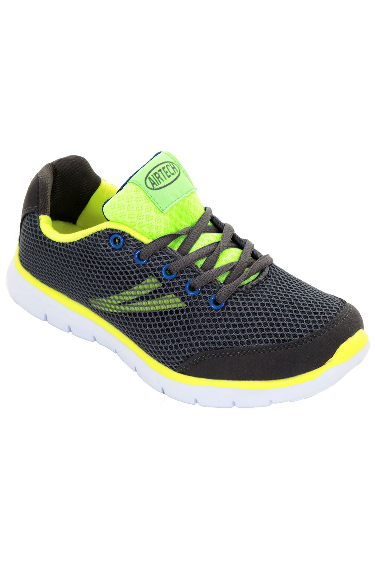 Womens Padded Mesh Neon Lace Up Trainers Sneakers Flat ...