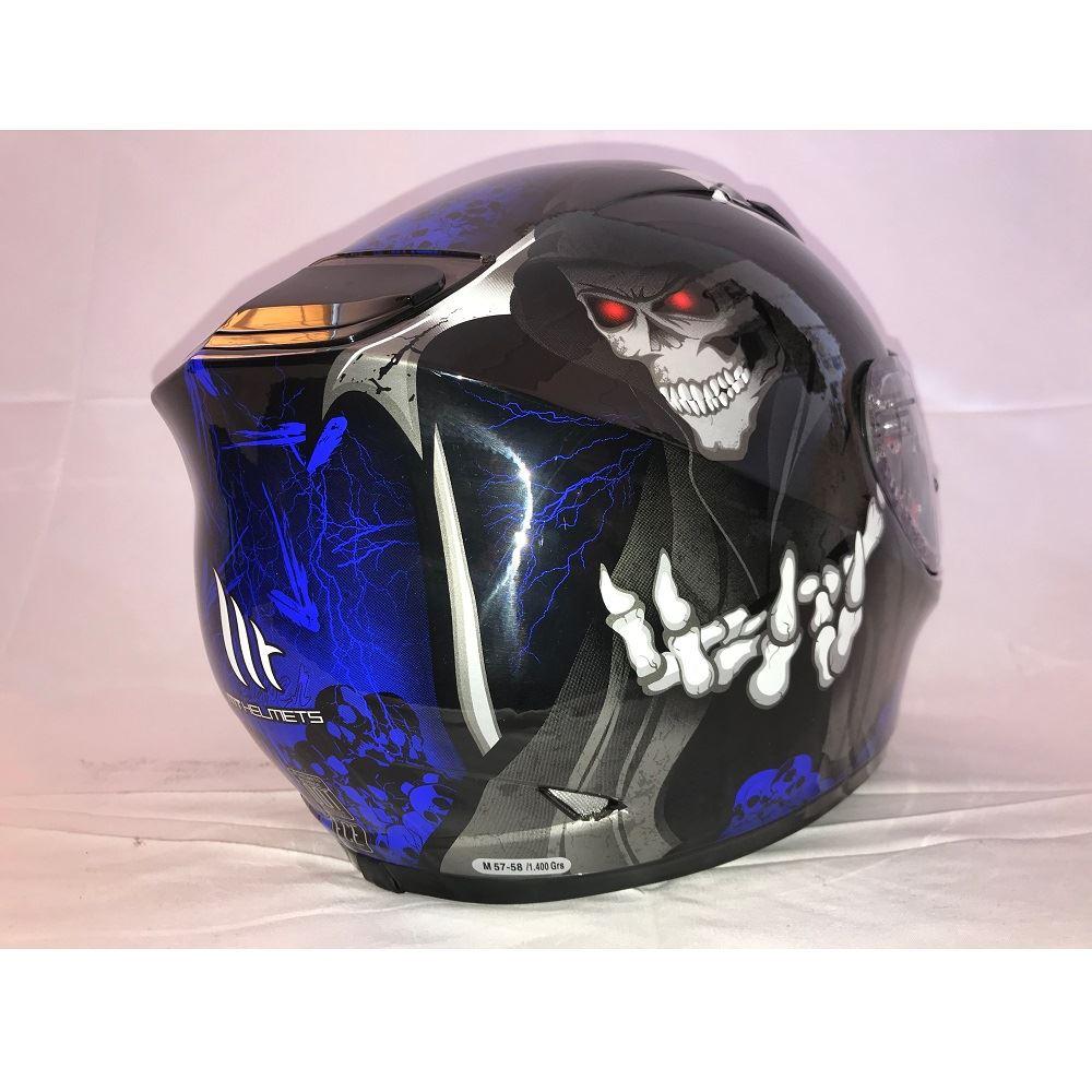 MT-Revenge-Grim-Reaper-Motorcycle-Scooter-Helmet-Skeleton-Crash-Motorbike-Moped thumbnail 8