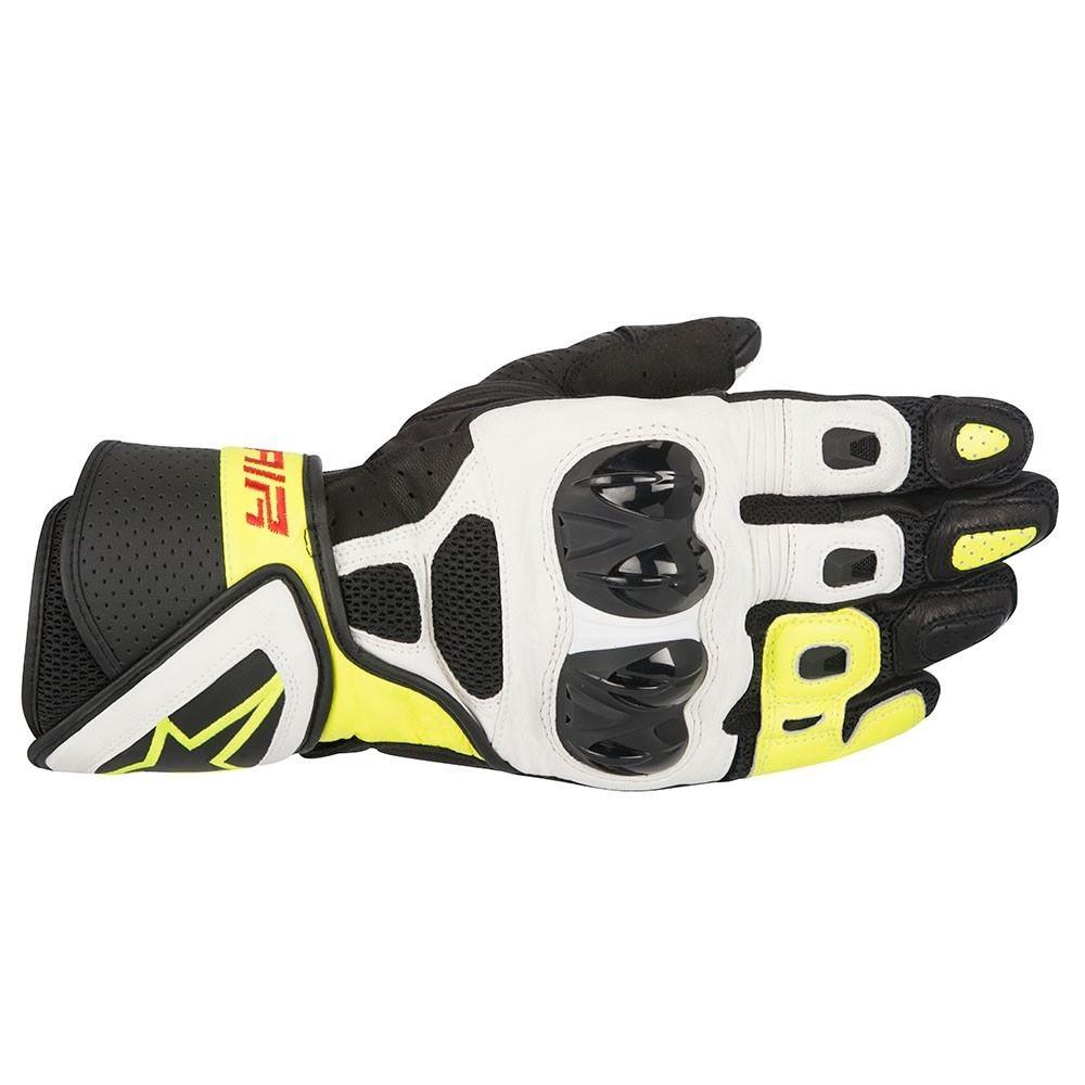 alpinestars-sp-AIR-CUIR-MOTO-RACING-GANTS-MOTO-noir-blanc-jaune
