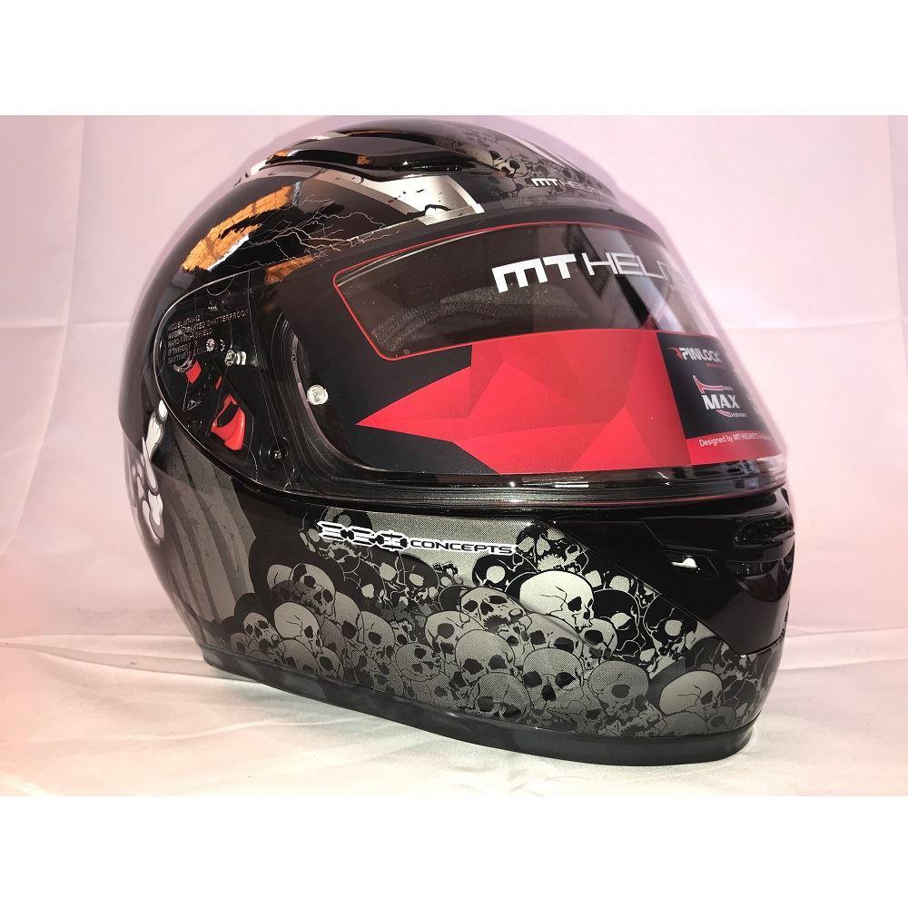 MT-Revenge-Grim-Reaper-Motorcycle-Scooter-Helmet-Skeleton-Crash-Motorbike-Moped thumbnail 6