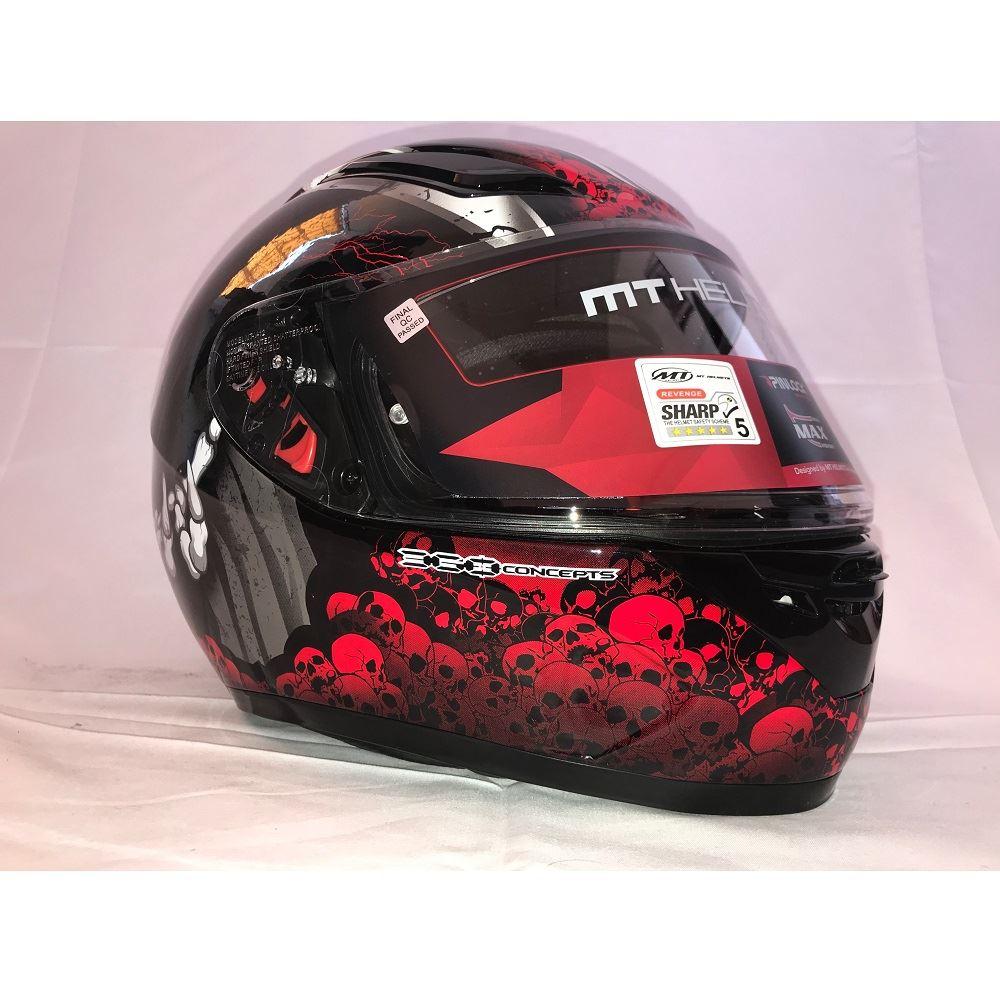 MT-Revenge-Grim-Reaper-Motorcycle-Scooter-Helmet-Skeleton-Crash-Motorbike-Moped thumbnail 15