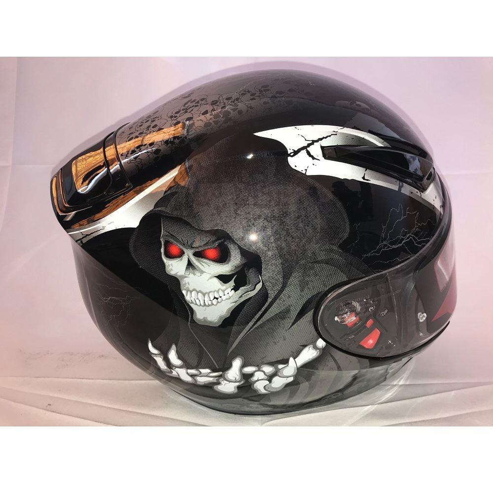 MT-Revenge-Grim-Reaper-Motorcycle-Scooter-Helmet-Skeleton-Crash-Motorbike-Moped thumbnail 5