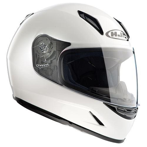 HJC-CL-Y-Motorcycle-Ladies-Childrens-Full-Face-Helmet-Black-White-Crash-Lid-Kids