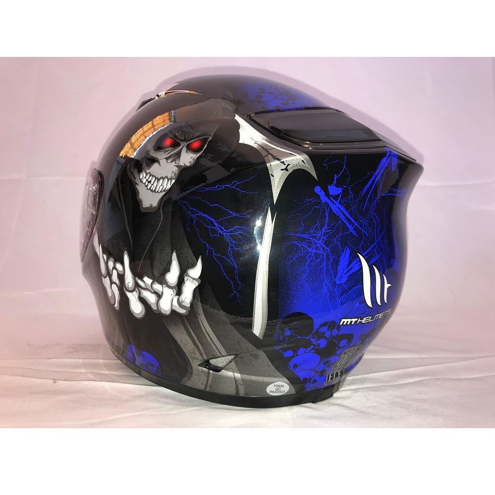 MT-Revenge-Grim-Reaper-Motorcycle-Scooter-Helmet-Skeleton-Crash-Motorbike-Moped thumbnail 10