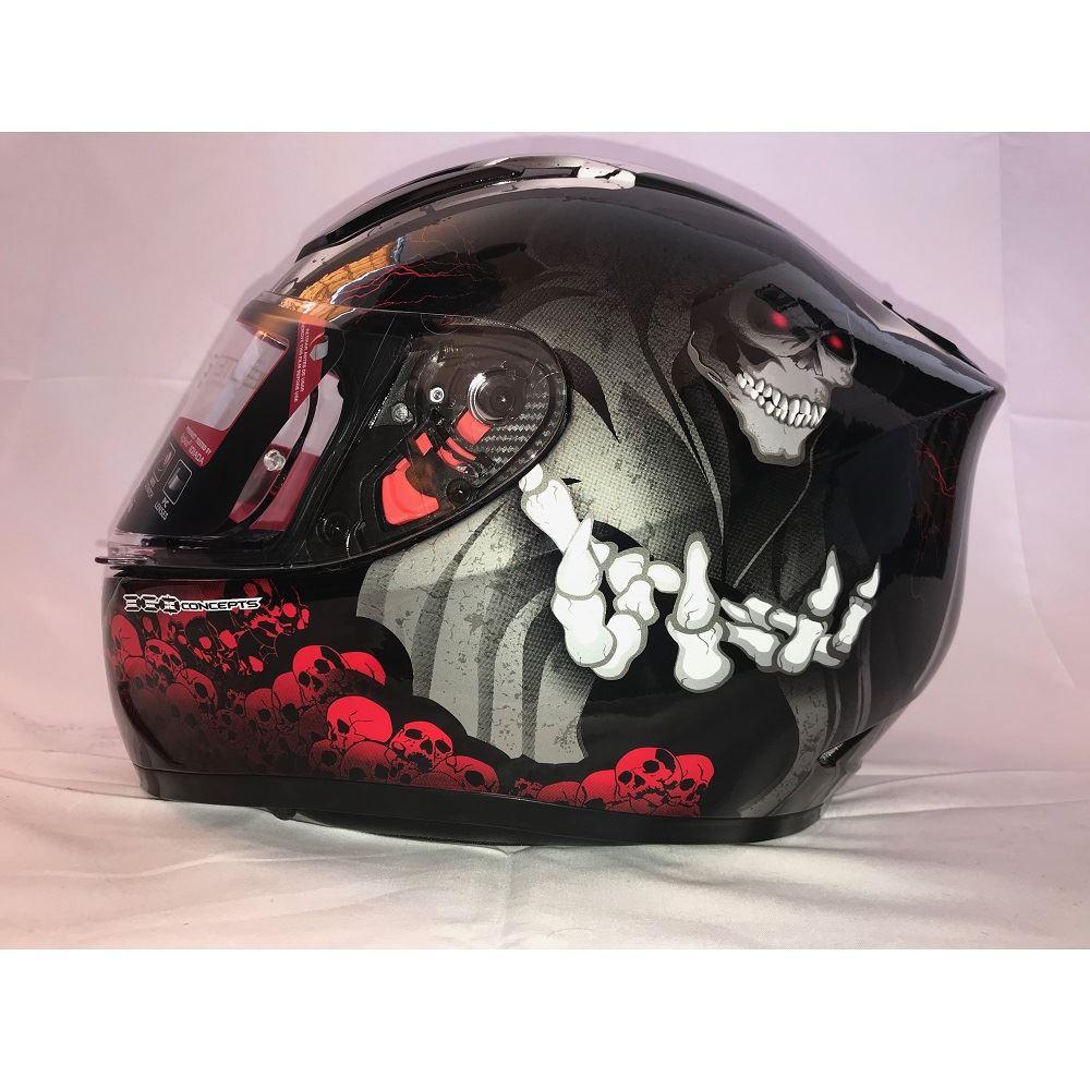 MT-Revenge-Grim-Reaper-Motorcycle-Scooter-Helmet-Skeleton-Crash-Motorbike-Moped thumbnail 13