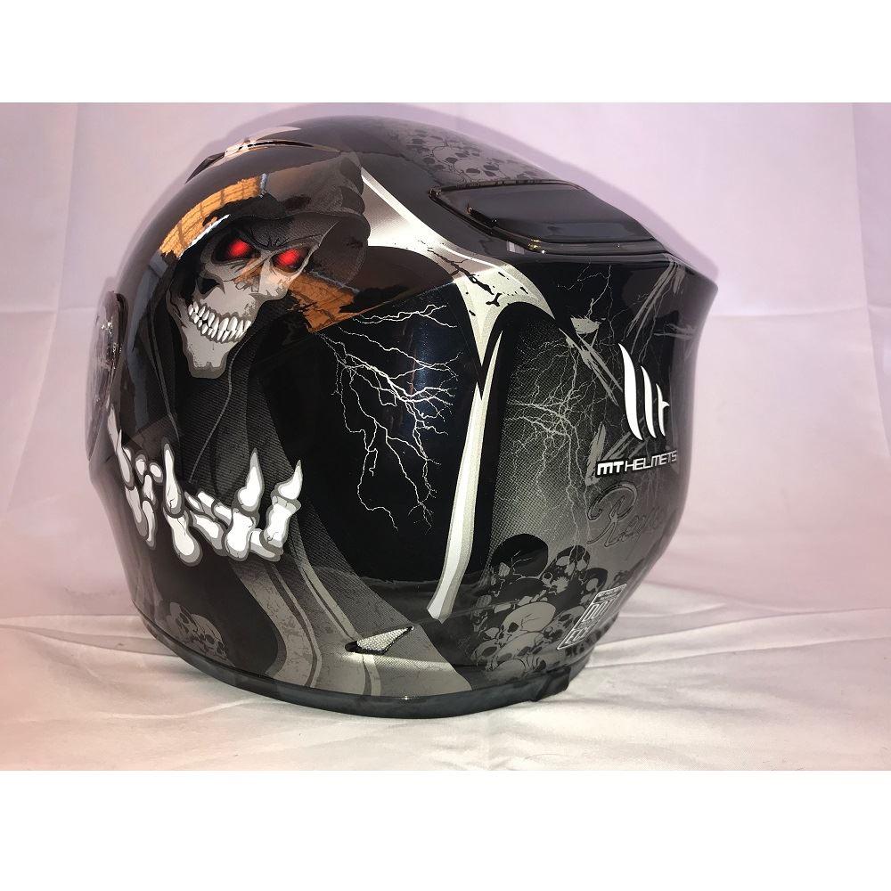 MT-Revenge-Grim-Reaper-Motorcycle-Scooter-Helmet-Skeleton-Crash-Motorbike-Moped thumbnail 4