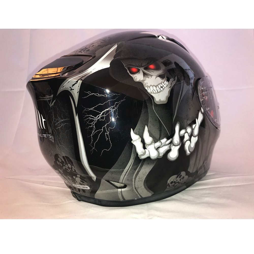 MT-Revenge-Grim-Reaper-Motorcycle-Scooter-Helmet-Skeleton-Crash-Motorbike-Moped thumbnail 3