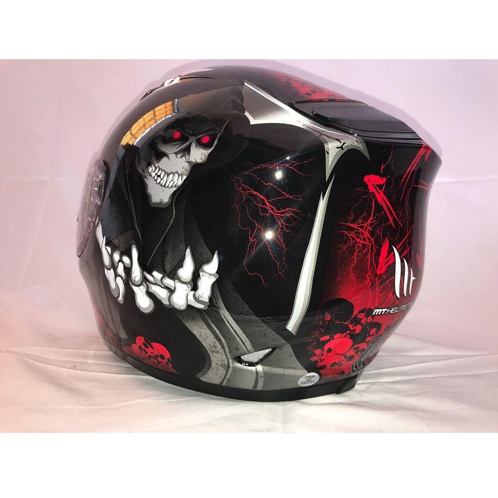 MT-Revenge-Grim-Reaper-Motorcycle-Scooter-Helmet-Skeleton-Crash-Motorbike-Moped thumbnail 16