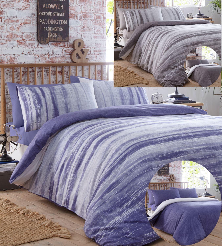Bedding Tie Dye Blue Stripe Printed Duvet Quilt Cover Modern Bedding Set Home Furniture Diy Tohoku Morinagamilk Co Jp