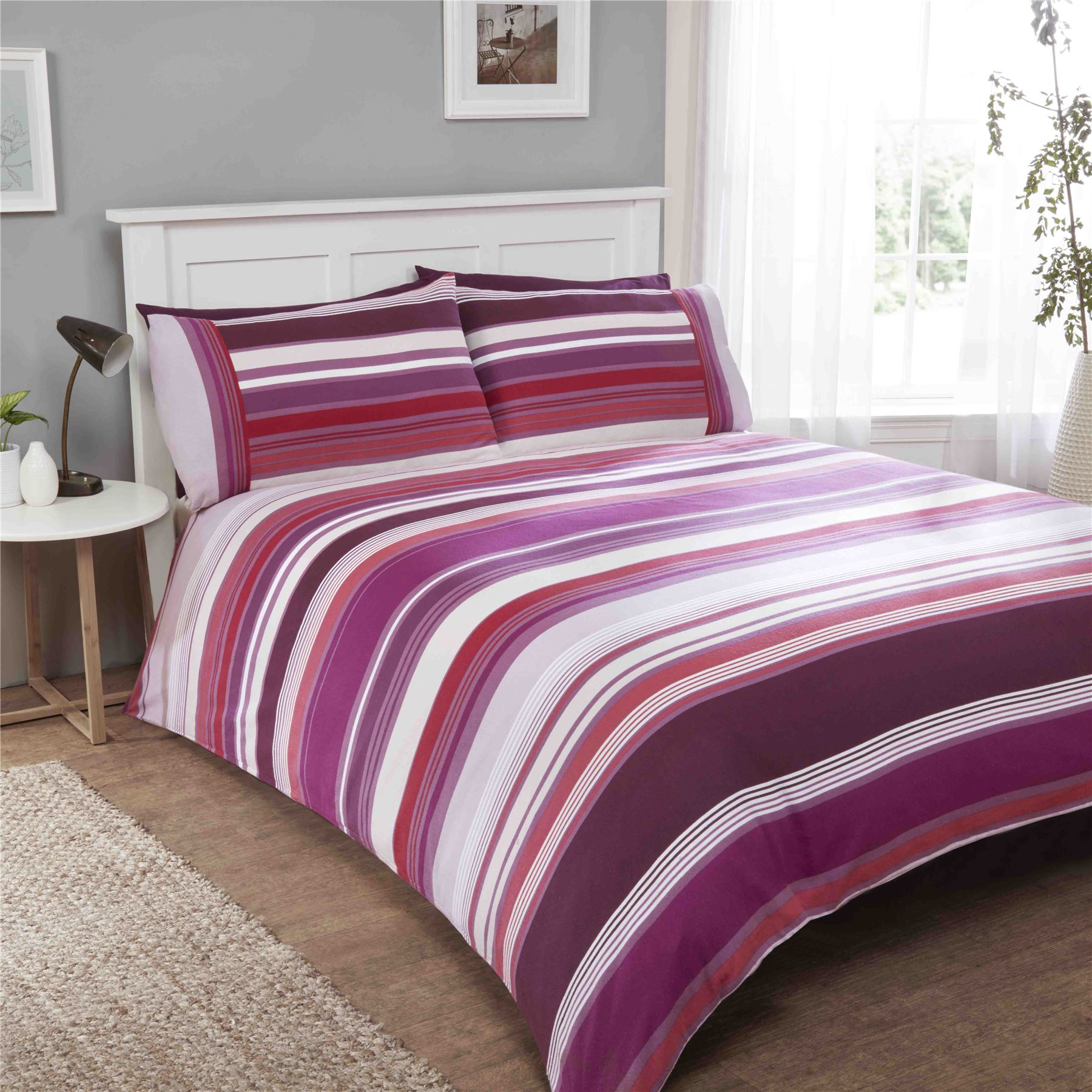 100 brushed cotton flannelette quilt duvet cover pillowcase bedding bed sets ebay - Amici di letto chat ...