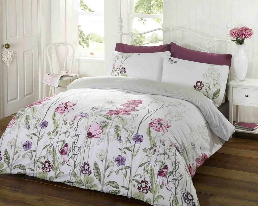 floral modern quilt duvet cover amp pillowcase bedding bed sets  - floralmodernquiltduvetcoveramppillowcasebedding