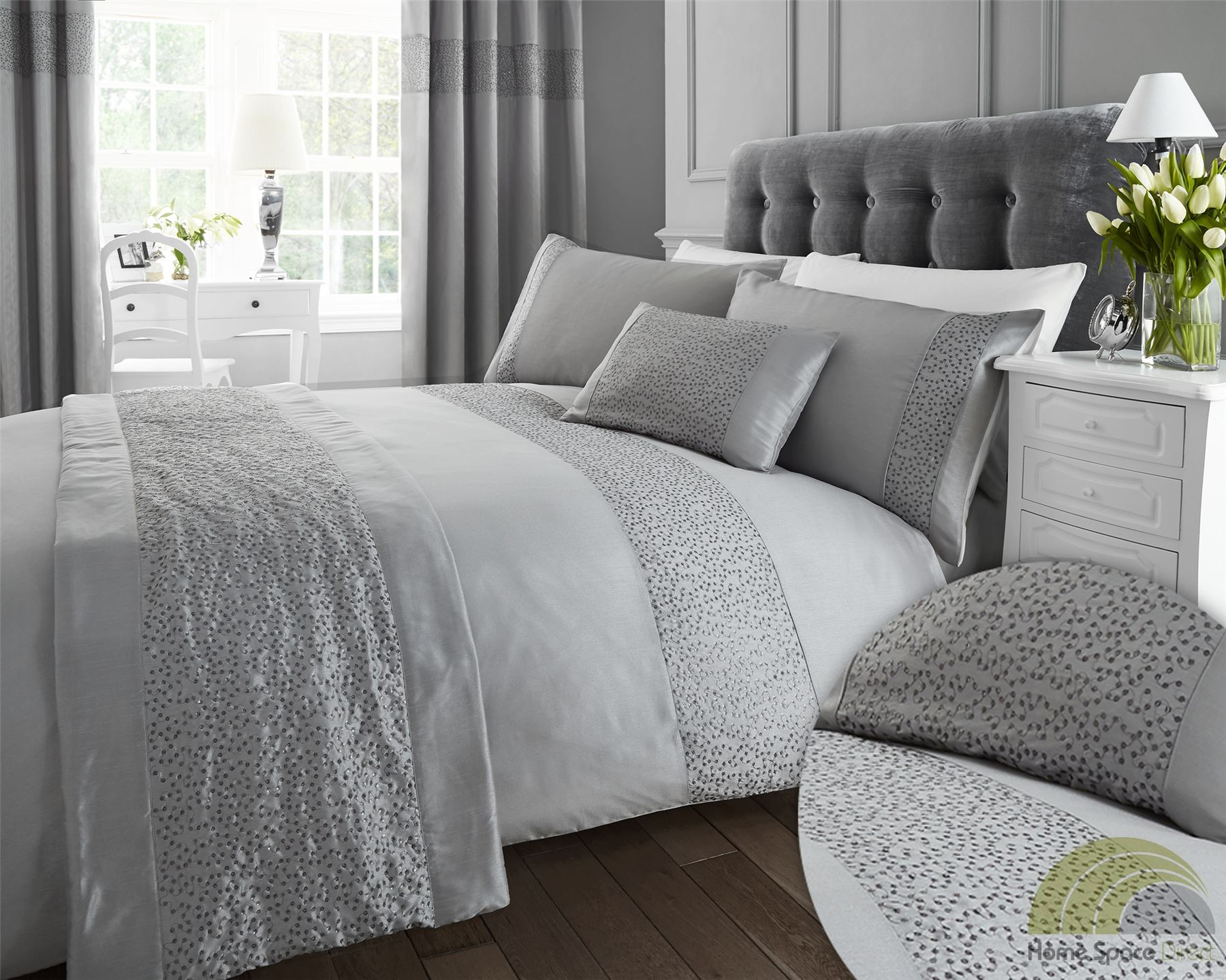 Quilt Duvet Cover Amp Pillowcase Bedding Bed Sets Sequined 3