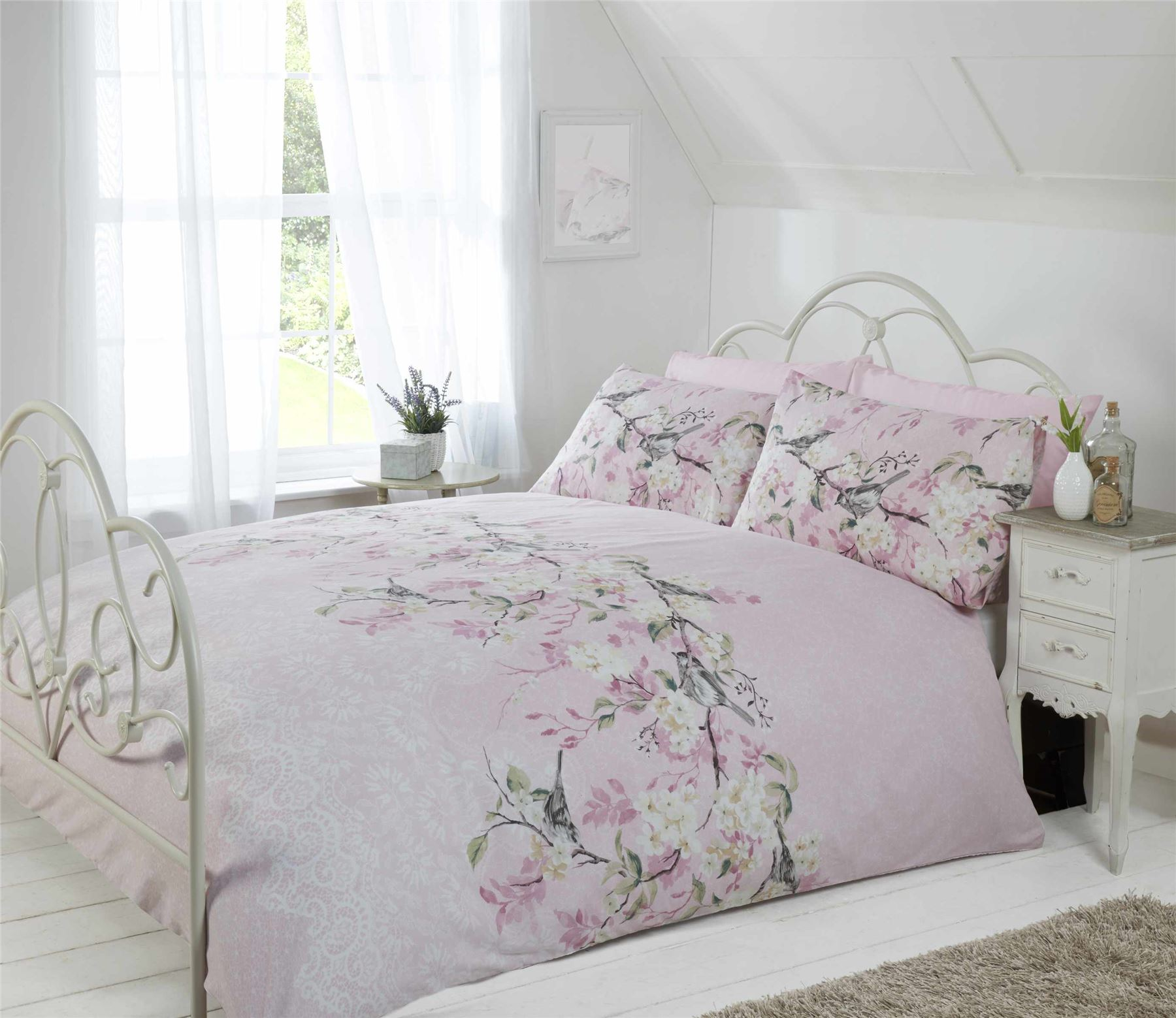 Floral-Quilt-Duvet-Cover-amp-Pillowcase-Bedding-Bed-Sets-Flowers-Modern-New thumbnail 17