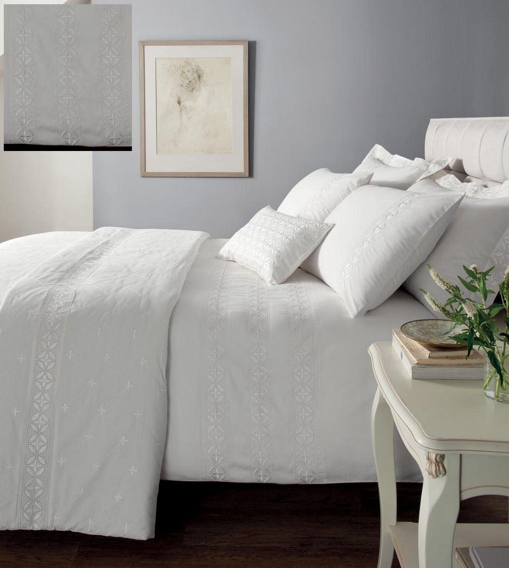 Ropa de cama blanca windsor colcha fundas almohada y for Colcha blanca cama 150