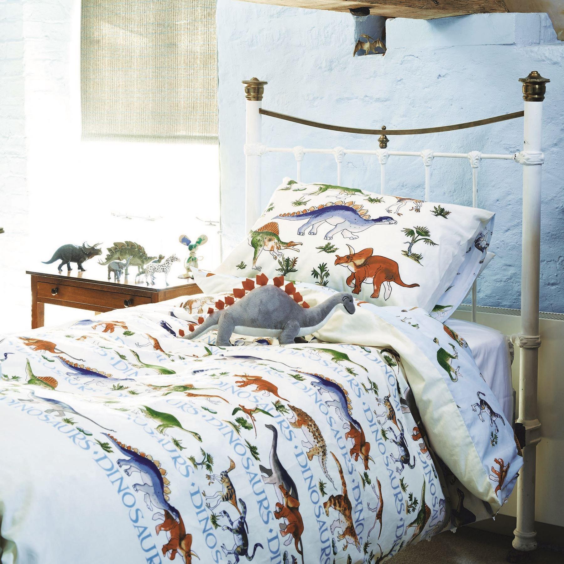 dinosaurs bedding duvet cover set 100 cotton by emma. Black Bedroom Furniture Sets. Home Design Ideas