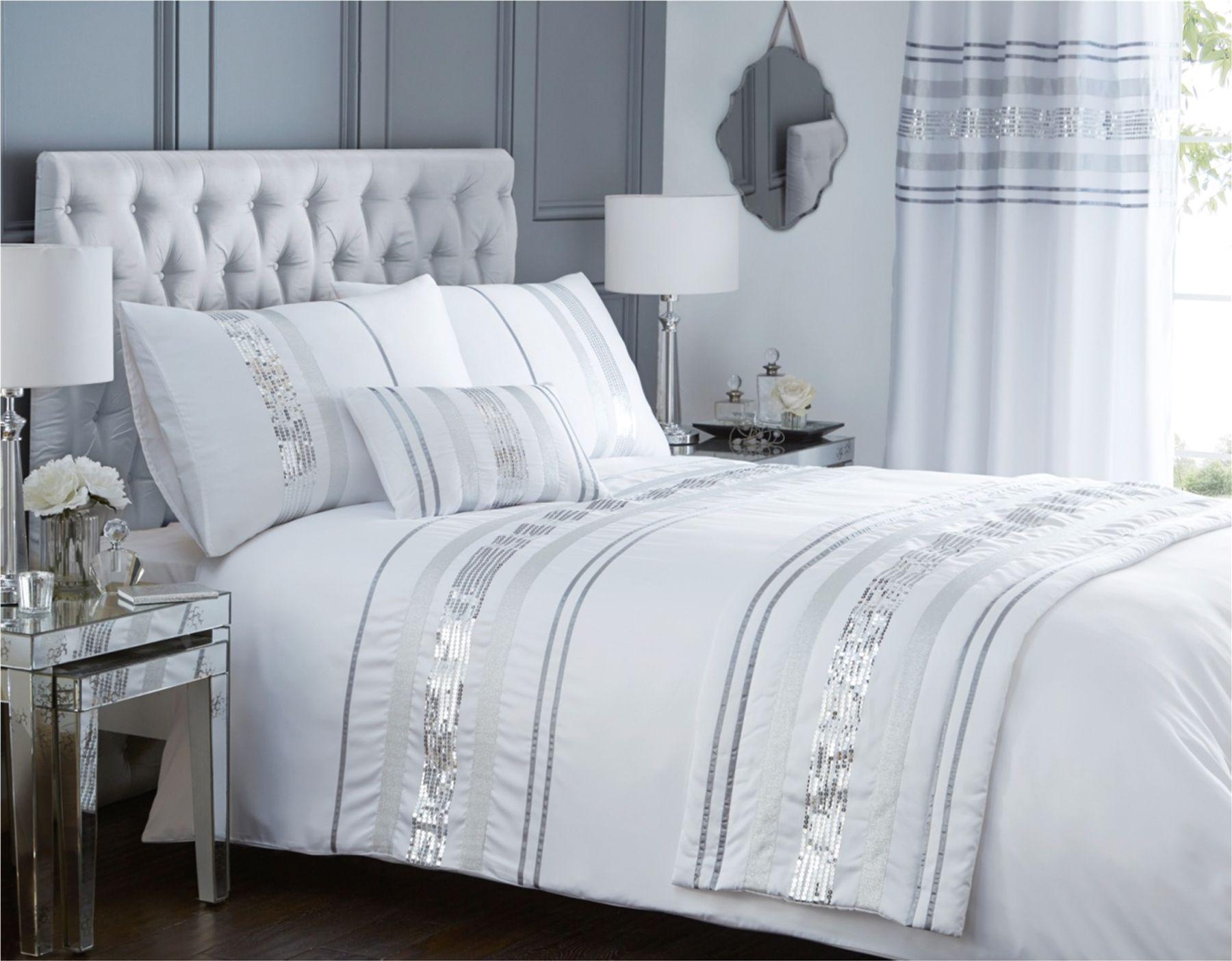 Modern quilt bedding - Modern Sequin Quilt Duvet Cover Amp 2 Pillowcase
