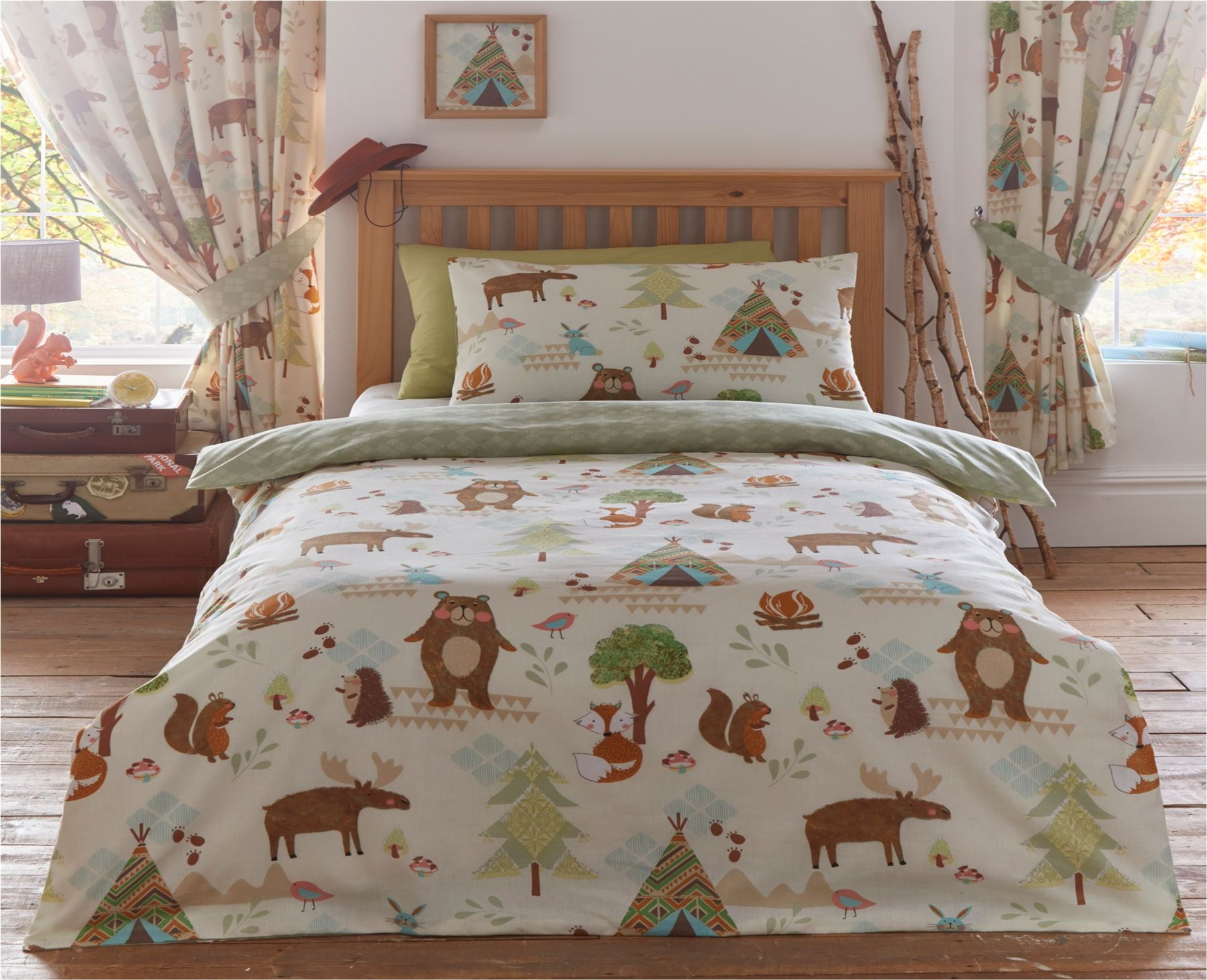 Childrens Quilt Duvet Cover Pillowcase Bedding Sets Or Matching Kids Curtains Ebay