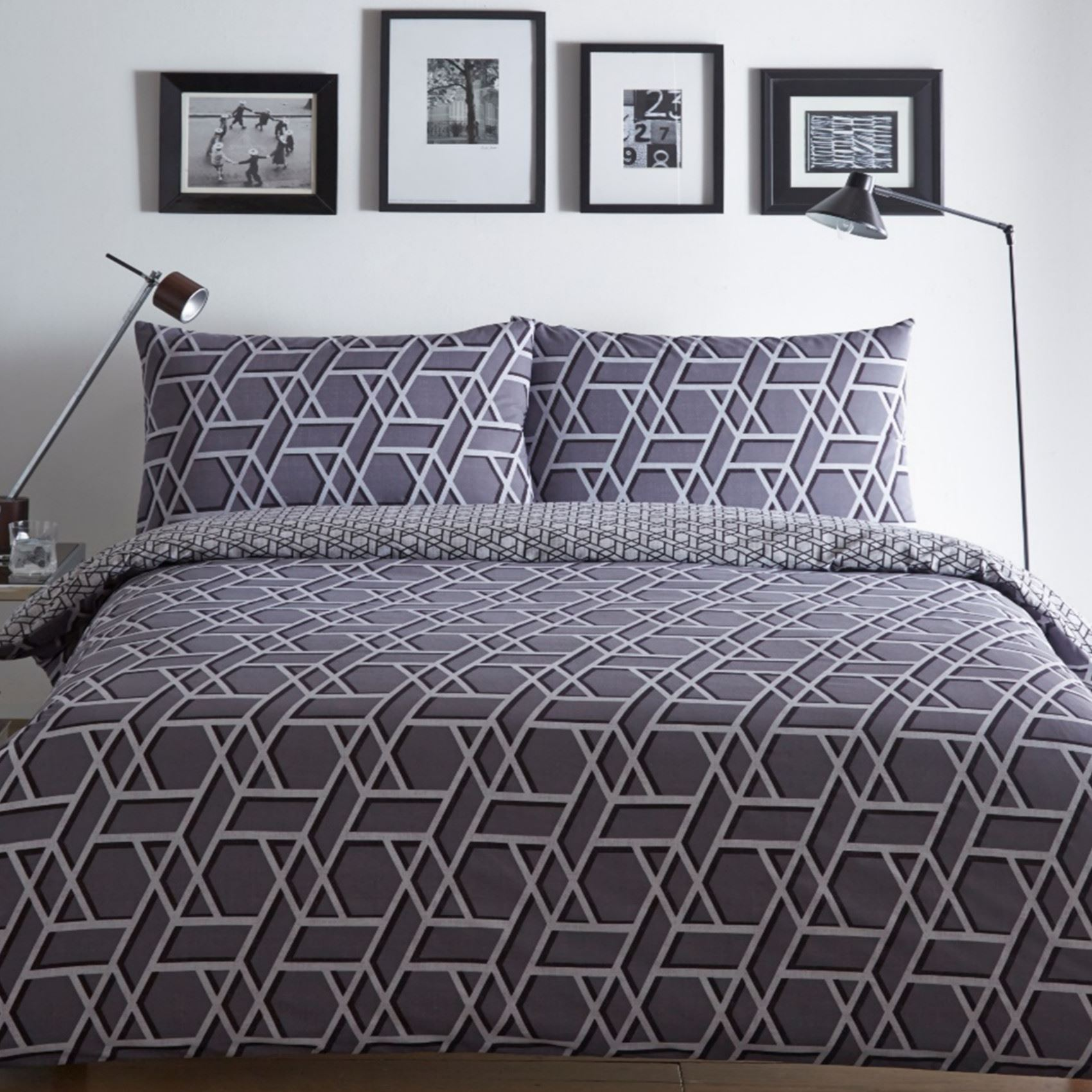 Quilt Duvet Cover & Pillowcase Bedding Bed Set Modern