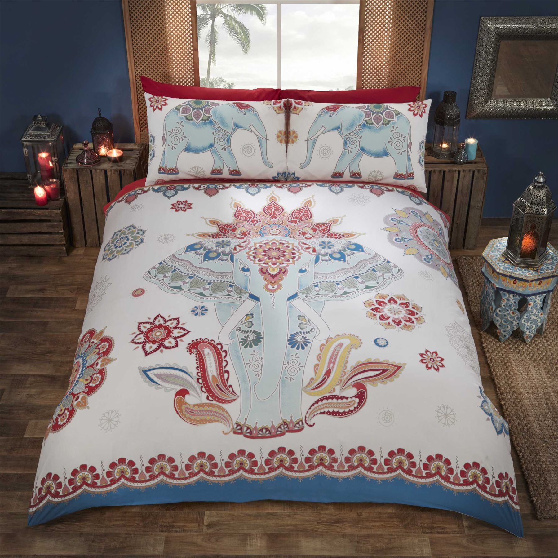 Indian Style Elephant Quilt Duvet Cover Amp Pillowcase