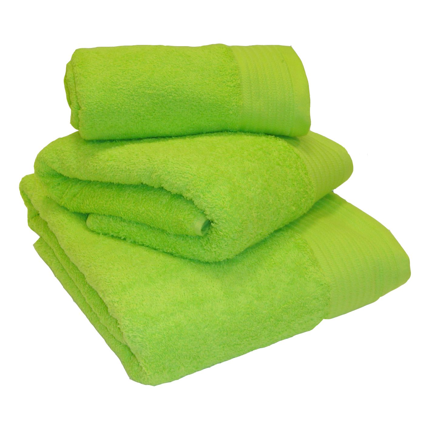 Bathroom Towels And Mats: Lime Green 100% Egyptian Cotton 600gsm Heavyweight Bath