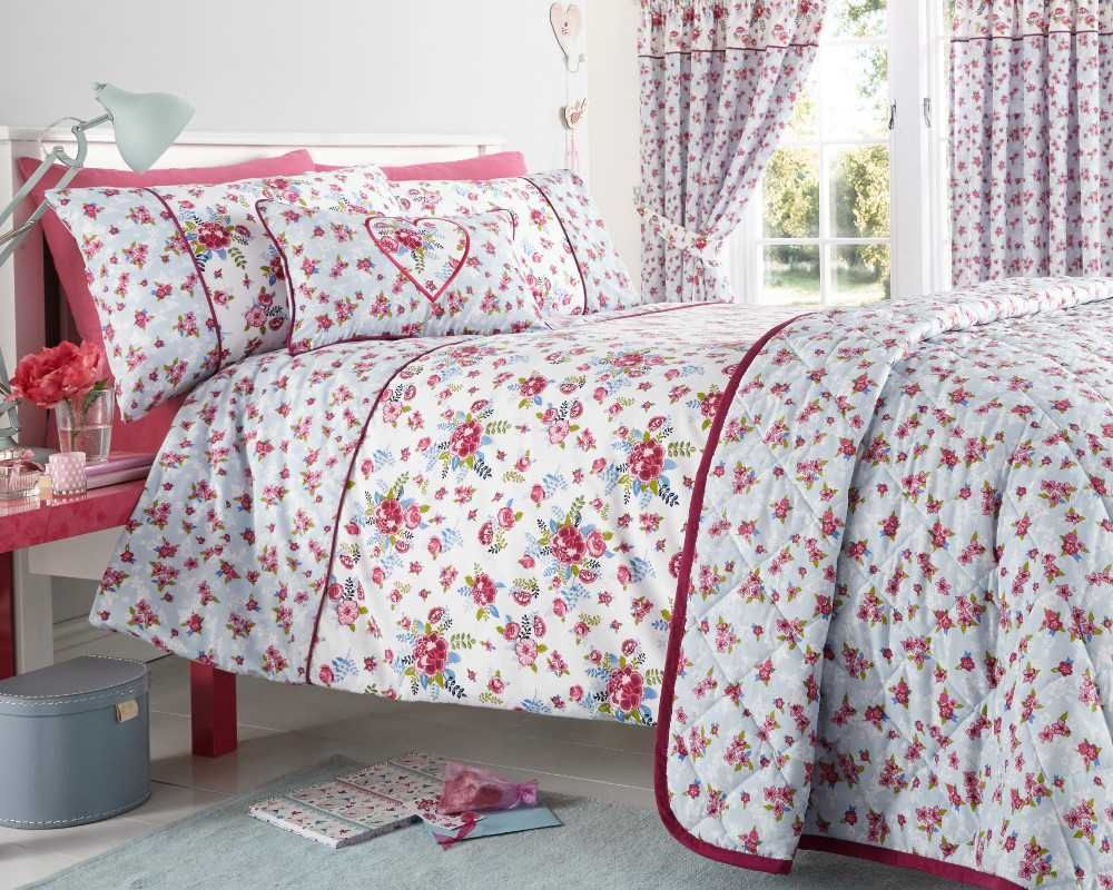 Floral-Quilt-Duvet-Cover-amp-Pillowcase-Bedding-Bed-Sets-Flowers-Modern-New thumbnail 10