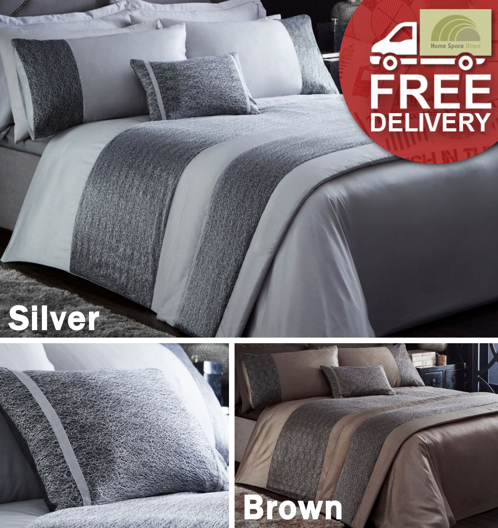 Details About Modern Duvet Cover 2 Pillowcase Bedding Set Or Cushion Or Bed Runner Stylish
