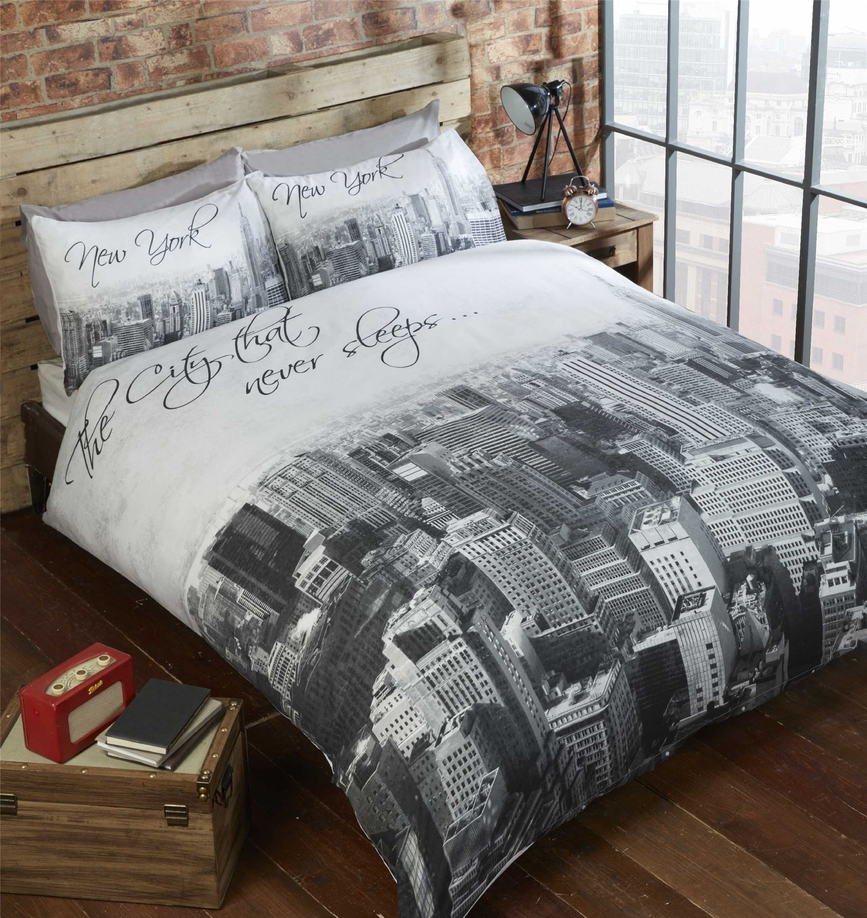 Modern Duvet Cover & Pillowcase Bedding Bed Set Urban Teenager s New