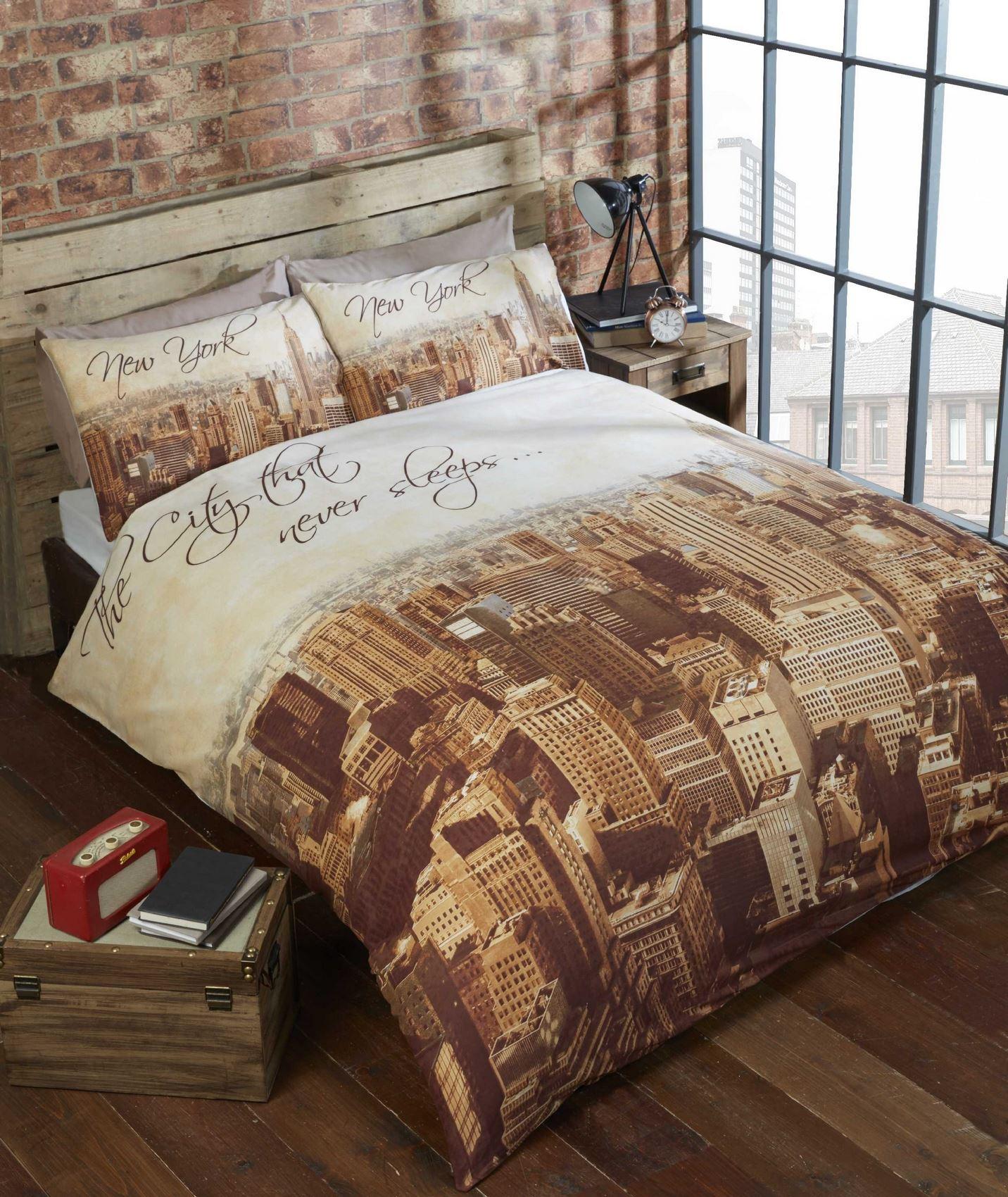 Lyckoax Duvet Cover And Pillowcase S White Lilac: Modern Duvet Cover & Pillowcase Bedding Bed Set Urban