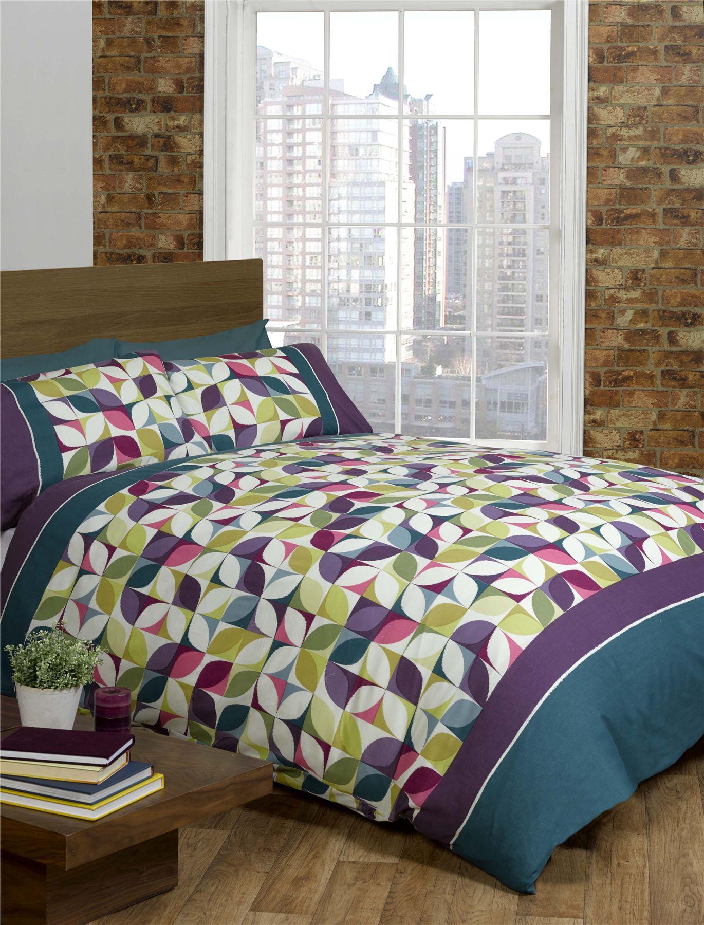 quilt duvet cover  pillowcase bedding bed set modern geometric  - quiltduvetcoveramppillowcasebeddingbedset