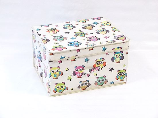 Kids Collapsible Ottoman Toy Books Box Storage Seat Chest: Kids Children's Storage Boxes With Lids Toy Chests Canvas