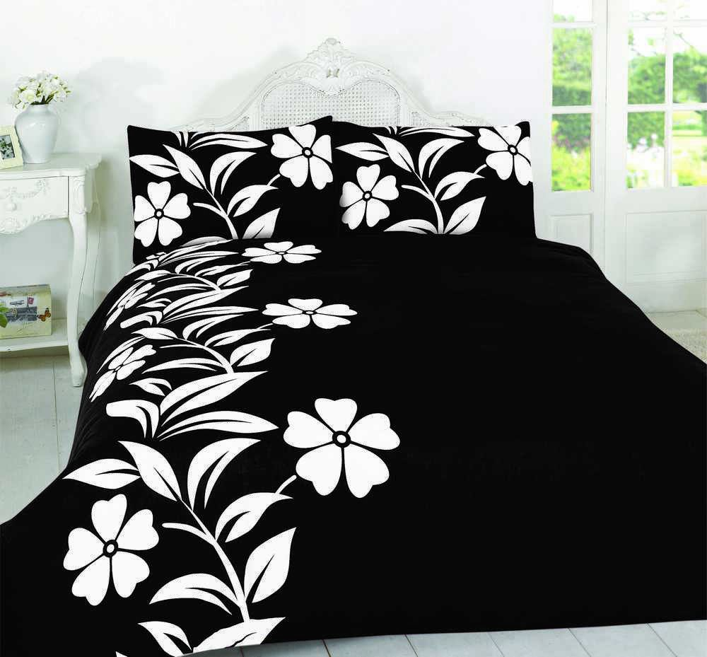Floral-Quilt-Duvet-Cover-amp-Pillowcase-Bedding-Bed-Sets-Flowers-Modern-New thumbnail 28