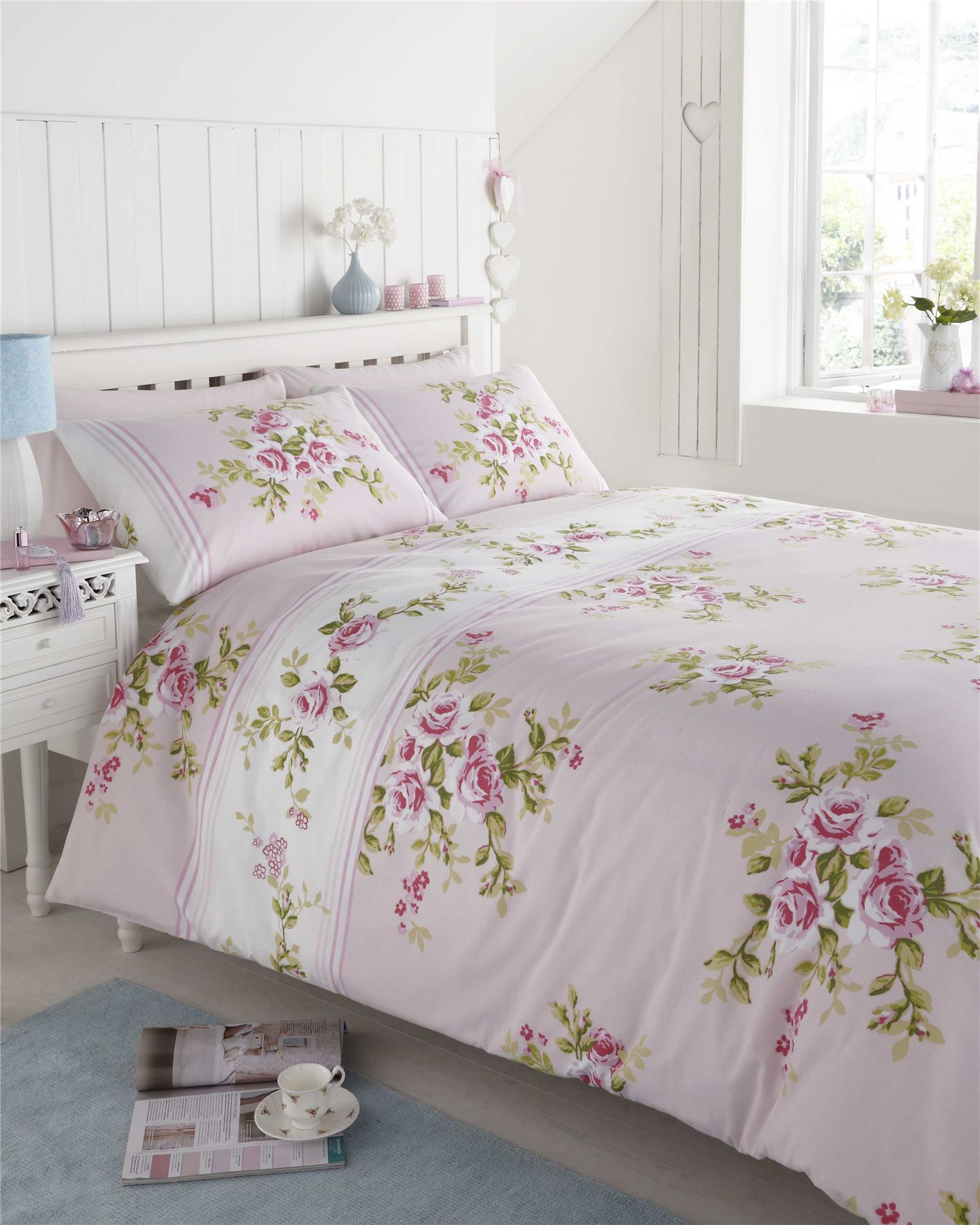 Pink Floral King Size Duvet Cover - Sweetgalas : king size bed quilt cover sets - Adamdwight.com