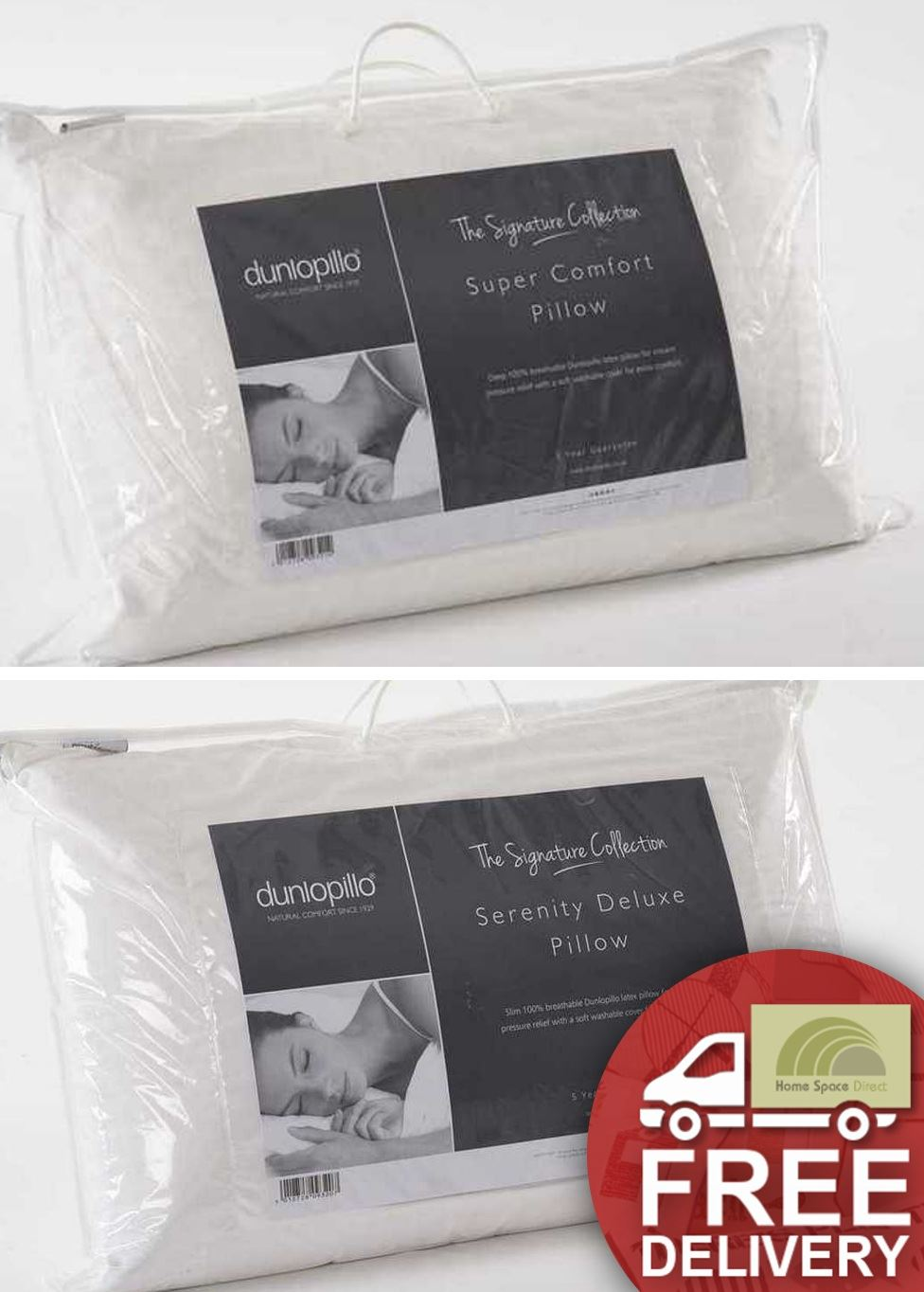 dunlopillo pillows breathable latex luxury deep or slim 100 cotton