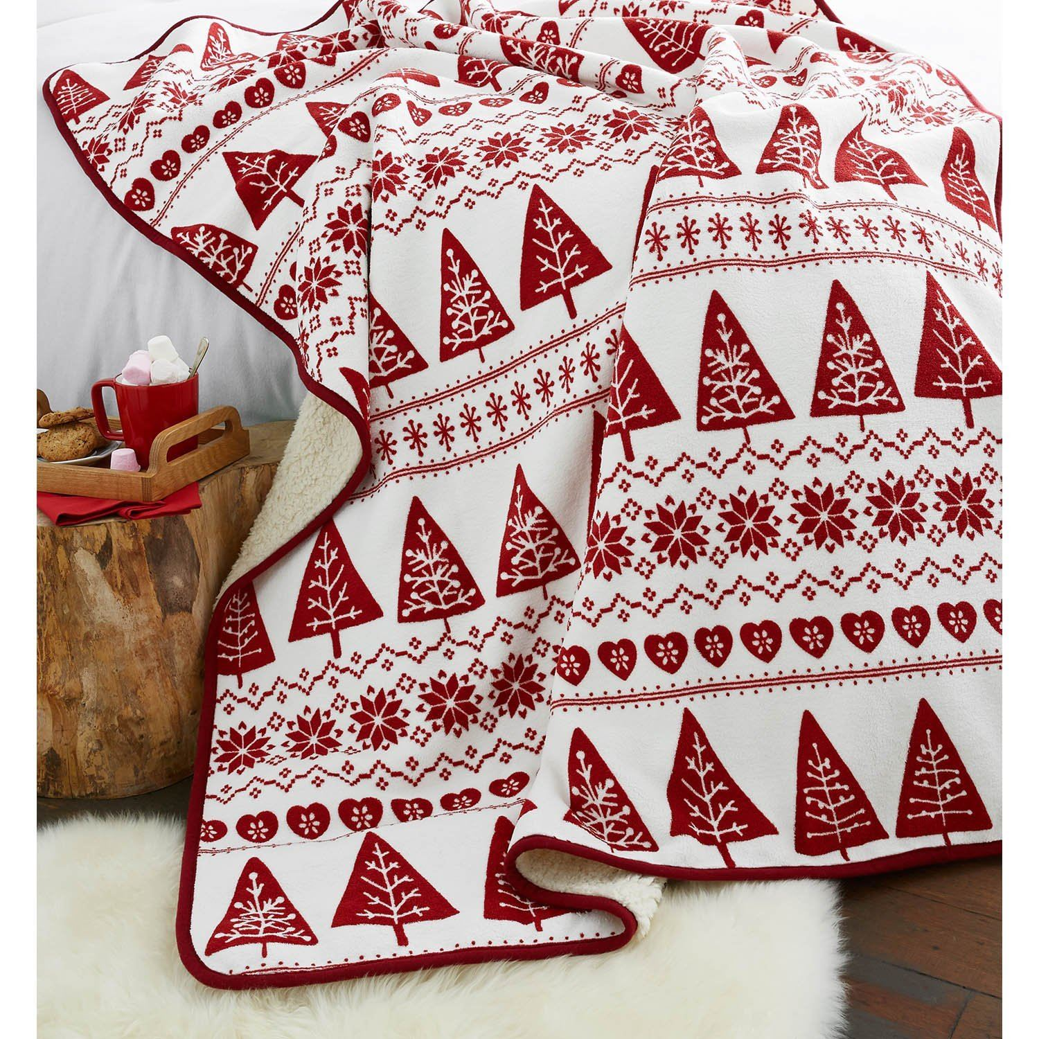 Christmas Soft Fleece Throws Decorative Bed Sofa Blanket