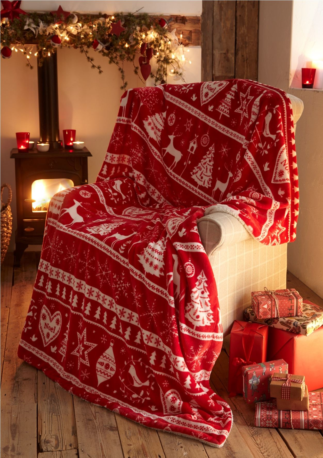 Christmas Soft Fleece Throws Decorative Bed Sofa Blanket
