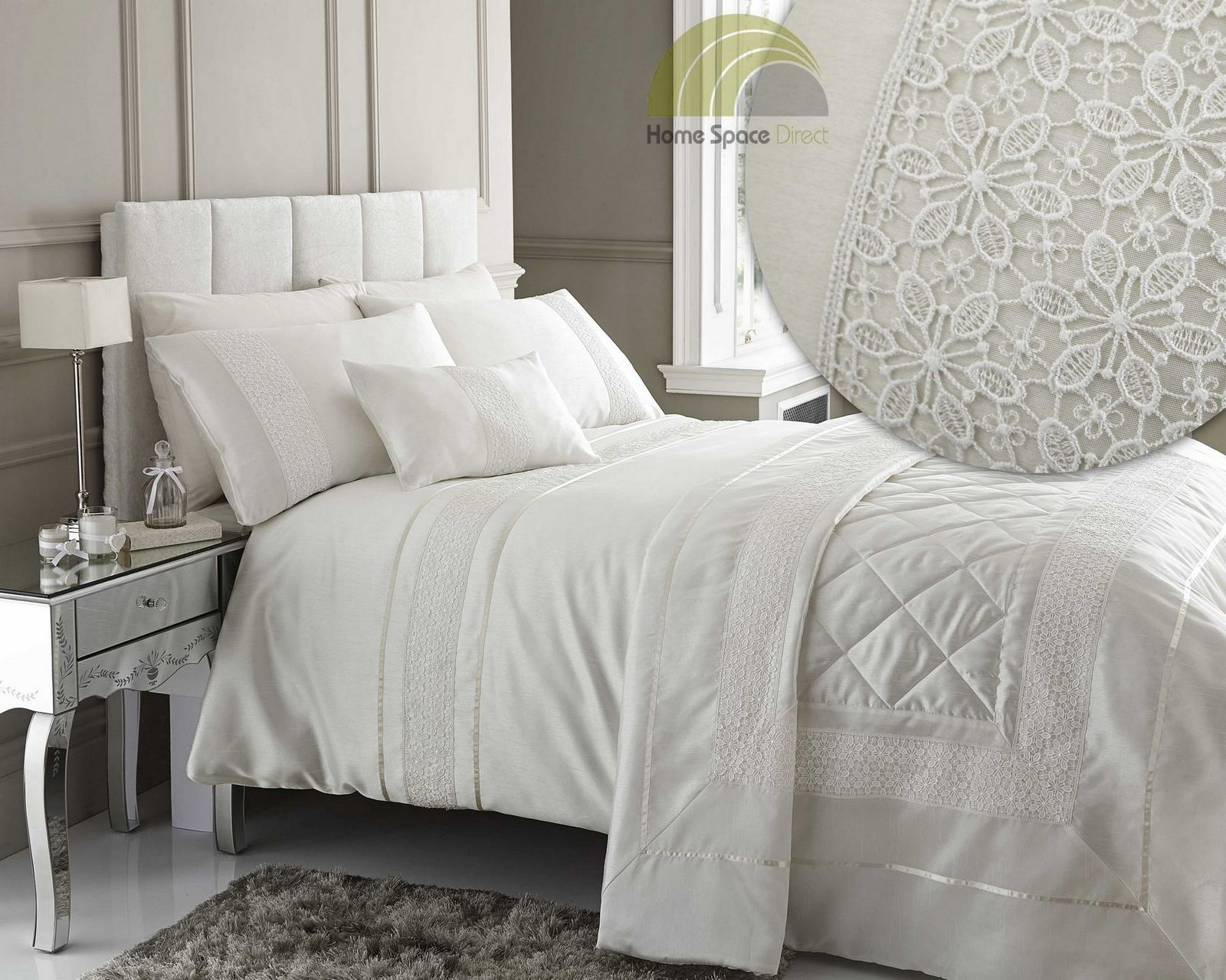 Modern quilt bedding - Embroidered Or Laced Quilt Duvet Cover Bedding Bed