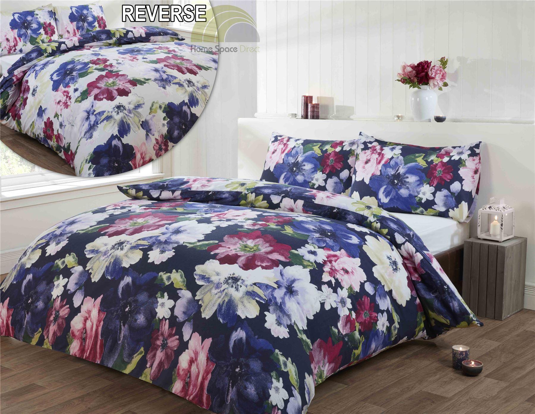 Floral Modern Quilt Duvet Cover Amp Pillowcase Bedding Bed