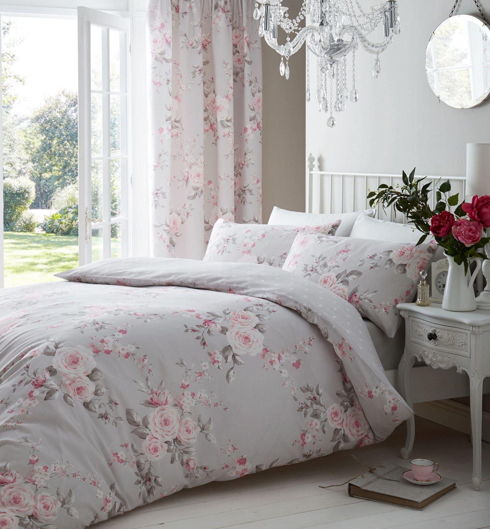 Fresh Pink Flower Duvet Cover - Sweetgalas BT12