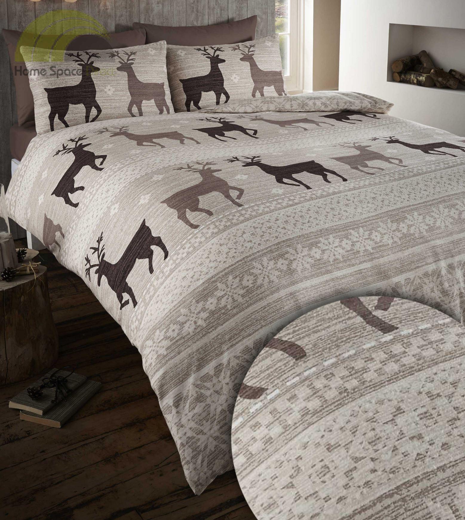 100 Brushed Cotton Flannelette Quilt Duvet Cover Bedding