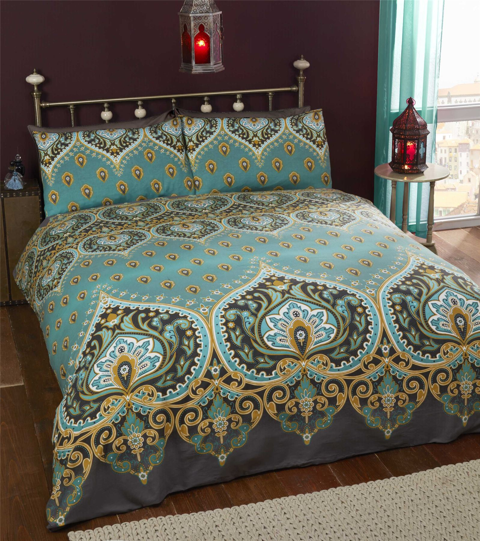 Indian Style Elephant Quilt Duvet Cover & Pillowcase Bedding Bed