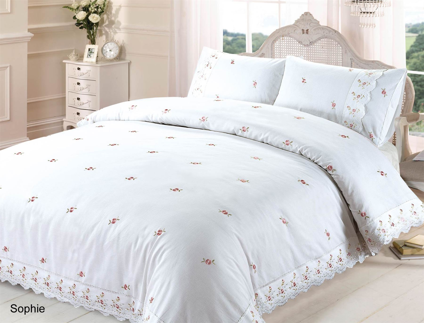Embroidered Or Laced Quilt Duvet Cover Bedding Bed Sets
