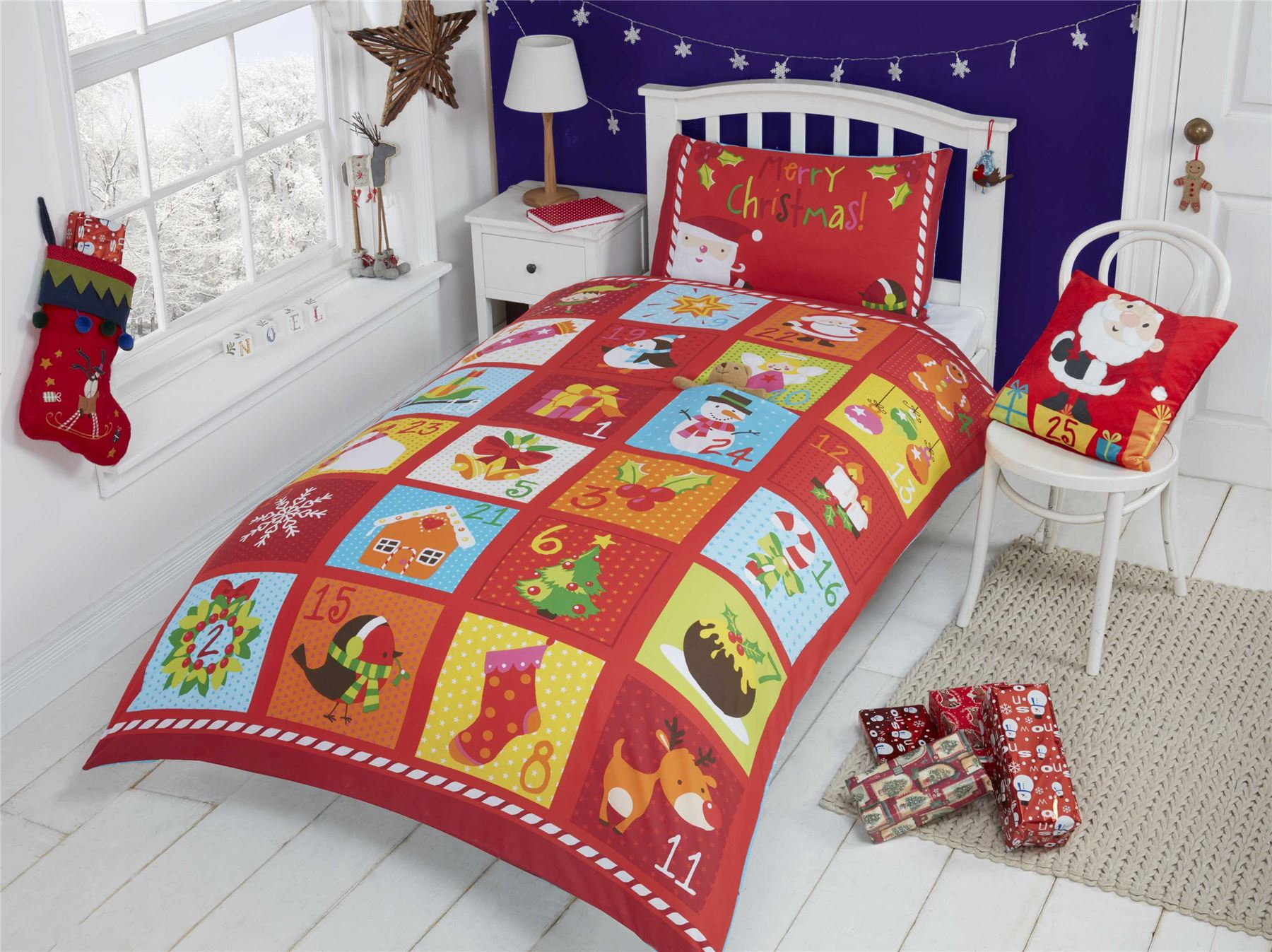Christmas Kids Quilt Duvet Cover Bedding Bed Sets 5 Sizes Festive ... : kids quilt - Adamdwight.com