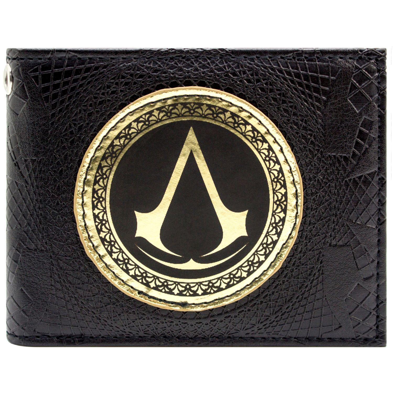 Assassins Creed Syndicate Gold Insignia Symbol Black Bi Fold